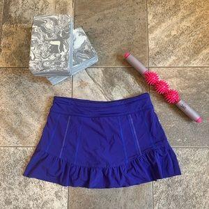 Athleta Purple Blue Exercise Skirt and Shorts